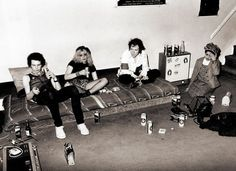 Sid Vicious, Nancy Spungen, Johnny Rotten, and Poly Styrene in Gunter Grove, Chelsea 1978
