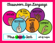 Image result for classroom sign language
