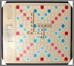 Scrabble was first invented in 1948 and was called Criss-Crosswords. The rights were later sold and the name changed to Scrabble and Selchow Righter began distributing it in 1952 Cookie Games, Board Games, Game Boards, Fun Cookies, Scrabble, Kicks, Dangles, 65th Birthday, Classic