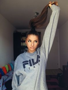 - F.I.L.A - #girl #hair #fila #beauty #makeup #me #outfit #clothes #photo #cute #mood #myself #inspiration #love