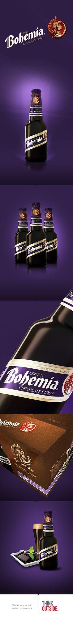 Bohemia Chocolate Stout by Brand Center , via Behance