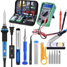 ebakey Temperature Electric Soldering Iron Kit Soldering Iron kit With Multimeter Desoldeirng Pump Welding Tool Welding Equipment, Welding Tools, Soldering Iron, Electric, Pumps, Kit, Pumps Heels, Pump Shoes, Soldering