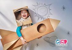 Fantasy play helps creative thinking in children Creative Play, Creative Thinking, Cardboard Rocket, Cardboard Spaceship, Cardboard Boxes, Activities For Kids, Crafts For Kids, Activity Ideas, Craft Ideas