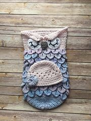 This listing is for a Crochet OWL COCOON and HAT SLEEPING PHOTO PROP (PDF FILE) Pattern will be available for immediate download following purchase!