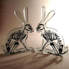 X Ray Hare Printed Glass Sculpture http://www.etsy.com/listing/67569471/x-ray-hare-printed-glass-sculpture