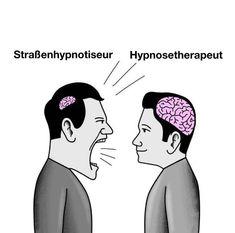 Strassenhypnose vs Hypnosetherapie, der kleine aber feine Unterschied - 9GAG