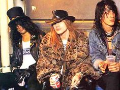 Slash, Axl Rose & Izzy Stradlin
