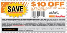 Pinned March 21st: $10 off $50 at Auto#Zone #coupon via The Coupons App
