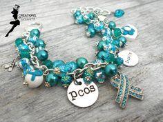 PCOS awareness bracelet from Etsy I CreationsbyAccident