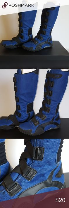 Moto Boots by X2B size 10 Motorcycle riding boots in a size 10 by X2B. One picture showing where boot is peeling. See pictures for further details. X2B Shoes Combat & Moto Boots