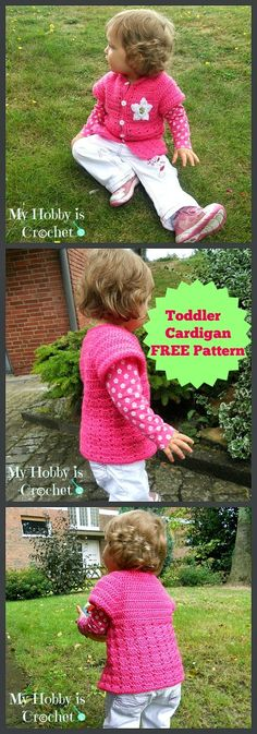 Toddler short sleeved cardigan  #crochet #freepattern #myhobbyiscrochet