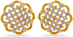 Buy Joyalukkas Impress Collection 22k Yellow Gold Stud Earrings for Women at Amazon.in Yellow Earrings, Women's Earrings, Real Gold Jewelry, Gold Studs, Ceiling Lights, Stuff To Buy, Collection, Decor, Decoration