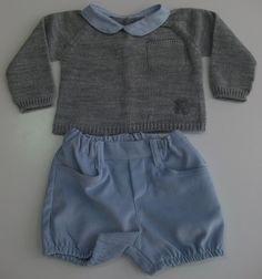 Conjunto de jersey y pololo para niño de la colección Milosos de Baby Tous. Jersey de tricotosa con cuello bebé estampado y apertura en la espalda. Pololo confeccionado en pana velour con dos bolsillos y cintura ajustable. Plazo de entrega:24-48 horas