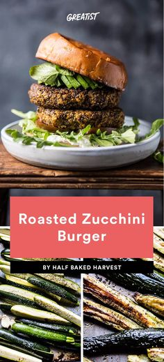 2. Roasted Zucchini Burger  #healthy #veggieburger # https://greatist.com/eat/veggie-burgers-even-meat-eaters-will-love