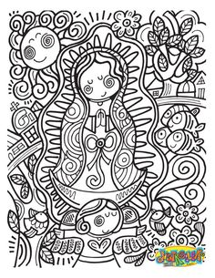 Our Lady Of Guadalupe Coloring Page . 24 Our Lady Of Guadalupe Coloring Page . Our Lady Guadalupe Coloring Page at Getcolorings Catholic Crafts, Catholic Kids, Religious Images, Religious Art, Coloring Pages For Kids, Adult Coloring, Kids Az, Little Flowers, Digi Stamps