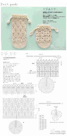 [뜨개자료] 코바늘 보틀커버 도안 : 네이버 블로그