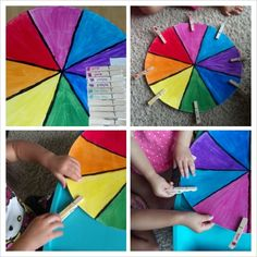 Color wheel matching for sense of sight