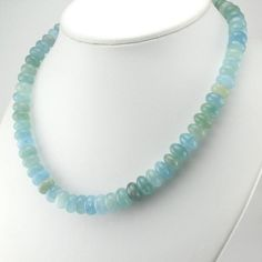 Sterling Silver Aquamarine 10mm Rondelle Bead Necklace Aquamarine Jewelry, Aqua Marine, Birthstones, Jewelry Gifts, Beaded Necklace, Sparkle, Sterling Silver, Beads, Fashion