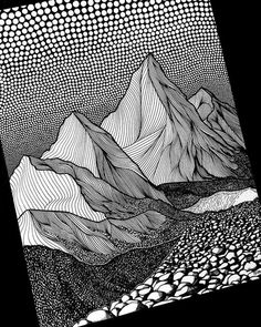 "31.1k Likes, 91 Comments - Design Milk (@designmilk) on Instagram: ""Can't stop scrolling through @christarijn's #art feed of mountainous #blackandwhite #drawings! """