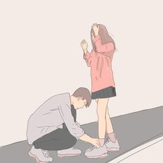 Cute Couple Wallpapers For Mobile - HD Wallpapers Cute Couple Drawings, Cute Couple Art, Anime Couples Drawings, Anime Love Couple, Cute Anime Couples, Cute Drawings, Cute Couple Cartoon, Couple Illustration, Illustration Art