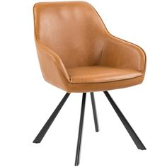 Light Tan Boyd Leatherette Dining Chair   Temple & Webster