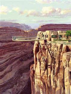 bird's-eye view of the Grand Canyon--watched a documentary on how they built this structure --now it's on the bucket list!
