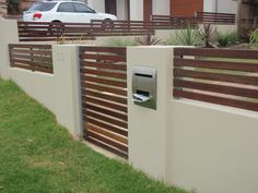 Horizontal Metal Fence Design Horizontal slat fencing