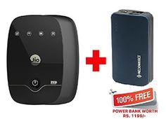 Reliance Jiofi M2 4G Wi-fi Hotspot Router (Plus Free Reliance Reconnect 5200 Mah Power Bank)