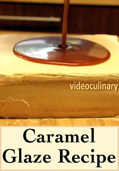 Glazing a cake with this glossy caramel glaze is an easy method of decorating a beautiful cake.IngredientsGet the recipe with American measures (ounces)Sugar - Caramel Glaze Recipe, Carmel Recipe, Salted Caramel Cake, Caramel Frosting, Mirror Glaze Recipe, Mirror Glaze Cake, Glaze Icing, Glaze For Cake, Cake Decorating Classes