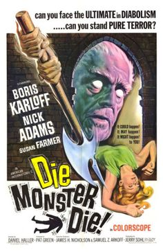 """Based on the Lovecraft story, """"The Colour Out of Space"""", this is an eerie little Horror film.  I seem to watch it a lot.  Here's the creepy poster with an eyeless Boris Karloff!"""
