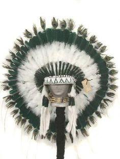Double Trailer Choctaw Indian Headdress War Bonnet