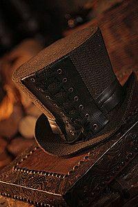 Leatherworker Top Hat Steampunk Zylinder