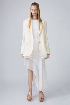 Acne Studios Pamsan Silk Ivory White 375x