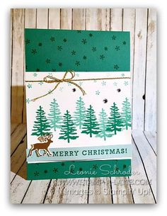 Greetings From Santa - Emerald Forest #stampinup #stampalatte #greetingsfromsanta #reindeer #2ndgenstamping #stampinsuccess