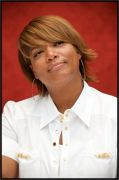 Queen Latifah- love this color hair