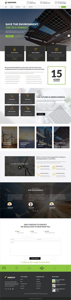 Unibuild is clean and modern design 3in1 responsive #WordPress theme for #innovation system and #construction companies website to download click on image.