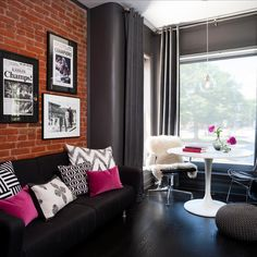 30 Best Ideas About Living Rooms with White Brick Walls   Tags;white brick wall living room, white brick wall bedroom, white brick wall kitchen