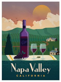 Image of Vintage Napa Valley Poster