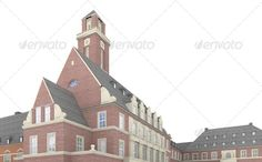Bottrop City Hall 5 ...  3d, UNESCO, animation, art, brick, building, carousing, city, culture, design, dysentery, eat, europe, family, gebaeude, germany, glass, history, masonry, model, peace, plaster, rendering, sight3d, sightseeing, steel, stucco, tourist attraction, visiting, visualization visualtektur, world heritage site, zollverein