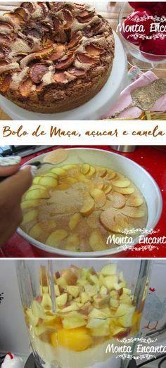 Como preparar um delicioso bolo de maçã e canela no liquidificador...