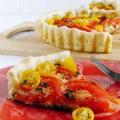 Savory Tomato Tart with Feta and Basil