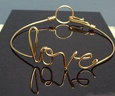 Love Bracelet Gold wire Bracelet Personalized by IsleOfAgape