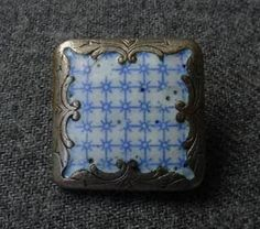 Enamel button from Argentina