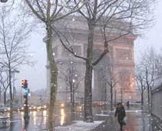 Paris in the occasional snowstorm