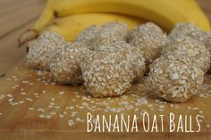 Banana Oat Balls - simple, clean, sweet treat for the kids' lunch boxes. Take only minutes to make and taste delicious.