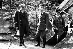 Hitler in May, 1940 with Goering and Schaub at his western HQ, Felsennest.