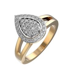 awesome Dew Drop Diamond Anniversary Ring