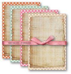 Polka Dot Papers Digital Collage Sheet Download by vintagebyme