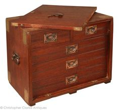 Small brass bound table top chest - Late 19th Century - Christopher Clarke Antiques