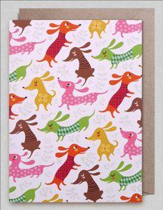 Greeting #Card #dogs by Helen #Dardik from www.kidsdinge.com https://www.facebook.com/pages/kidsdingecom-Origineel-speelgoed-hebbedingen-voor-hippe-kids/160122710686387?sk=wall #kidsdinge #toys #speelgoed